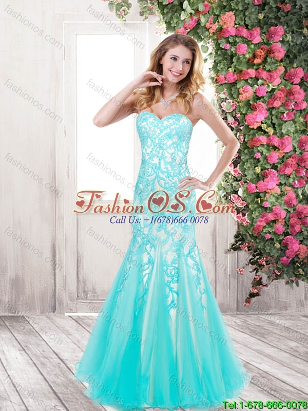 Perfect Pretty Beaded Fashionable Mermaid Sweetheart Prom Dresses with Appliques