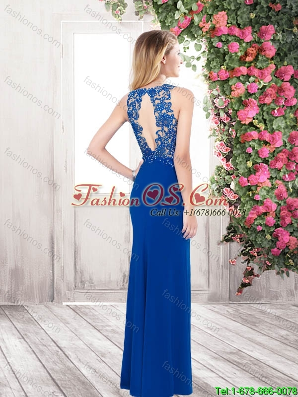 Perfect Pretty Popular Column Beaded Prom Dresses with Open Back