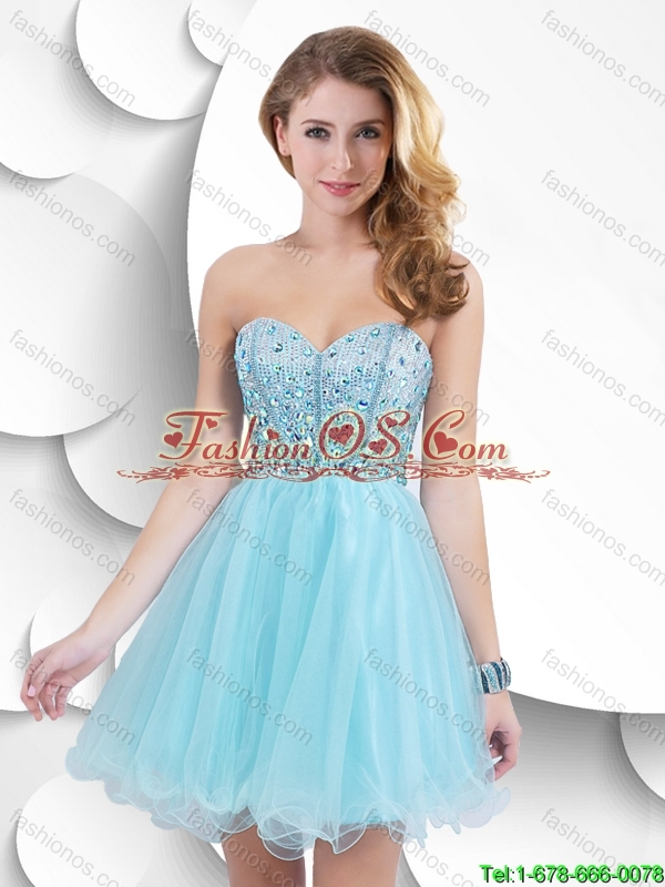 Classical Luxurious Classical Mini Length Sweetheart Prom Gowns with Beading