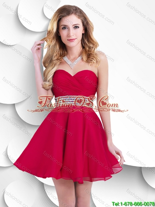 Classical Luxurious Popular Sweetheart Short Prom Dresses with Beading and Ruching