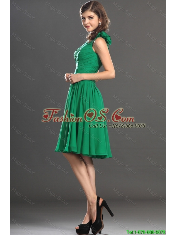 New Arrivals One Shoulder Short Prom Dresses in Green 2015