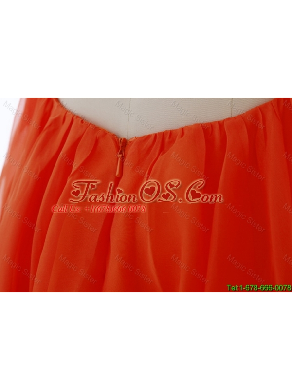 2016 Latest Beaded and Sequined Prom Dresses in Orange
