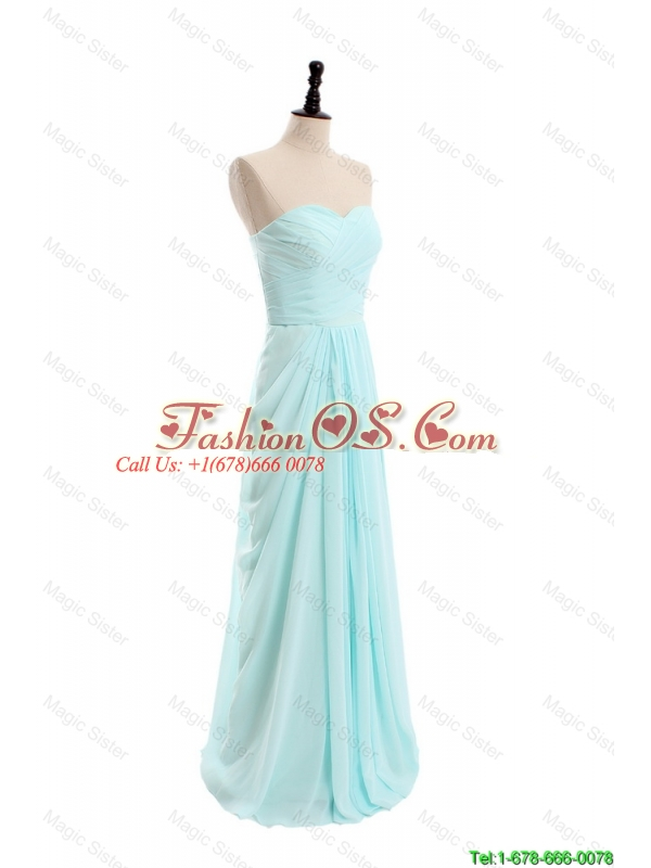 Cheap 2016 Spring Simple Empire Sweetheart Prom Dresses with Ruching