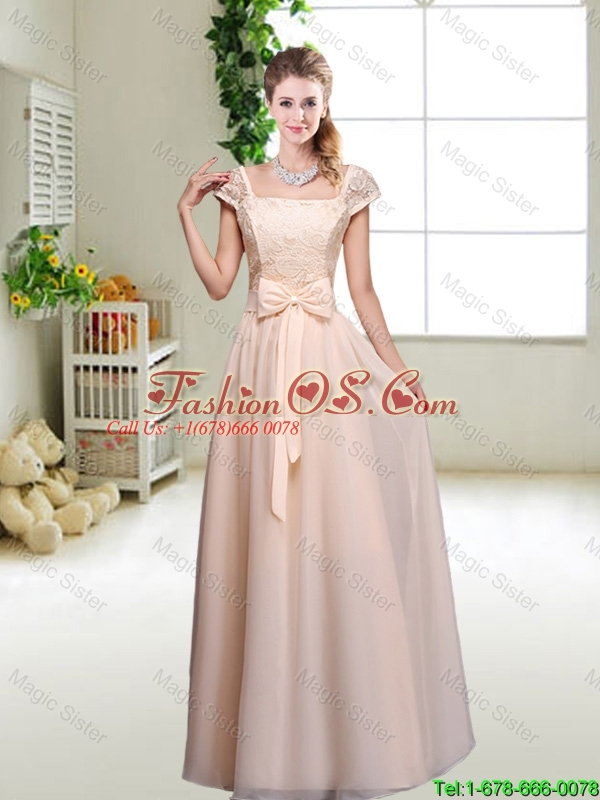 Beautiful Hand Made Flowers Bridesmaid Dresses with Column