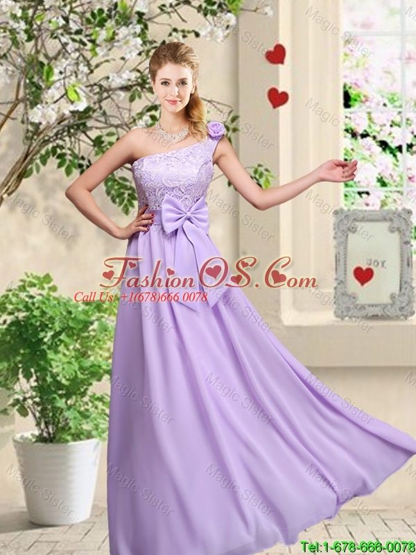 New Style Laced and Bowknot Bridesmaid Dresses with Square