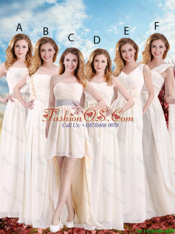 Beautiful V Neck Lace Up Bridesmaid Dresses with Hand Made Flowers