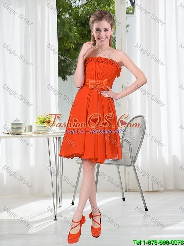 New Style A Line Beading Short Bridesmaid Dresses