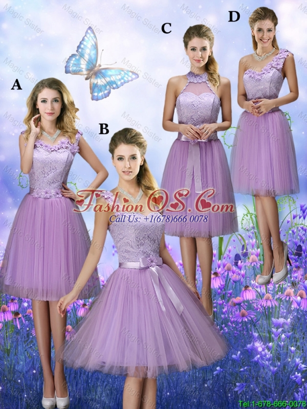 Fashionable One Shoulder Hand Made Flowers Bridesmaid Dresses