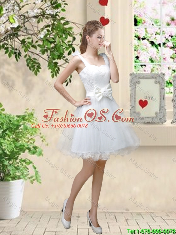 Sophisticated Appliques White Prom Dresses with Mini Length