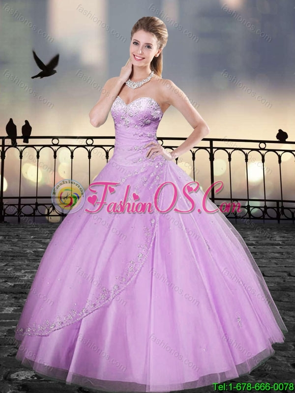 Beautiful Ball Gown Beading Quinceanera Dresses in Lilac