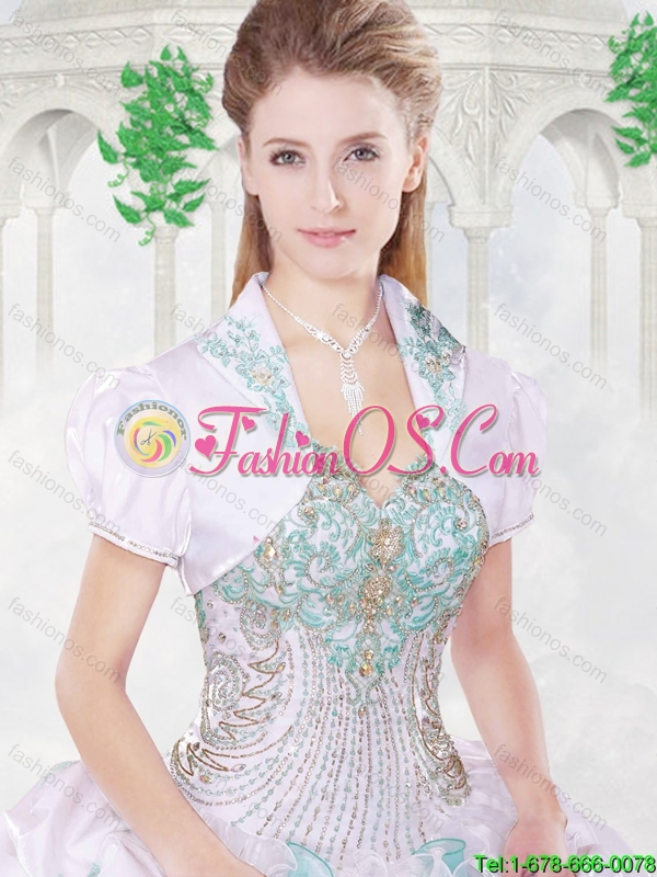 Hot Sale Beading Quinceanera Dresses with Appliques and Ruffles