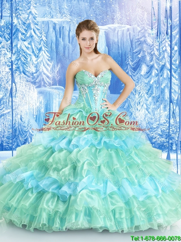 Luxurious Ruffled Layers Sweet 16 Dresses in Multi Color