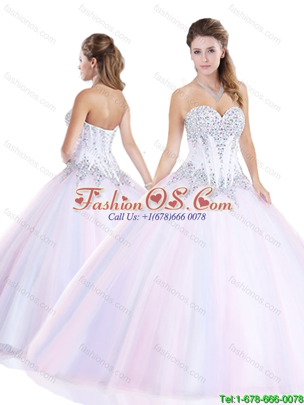 New Style Multi Color Quinceanera Gowns with Beading