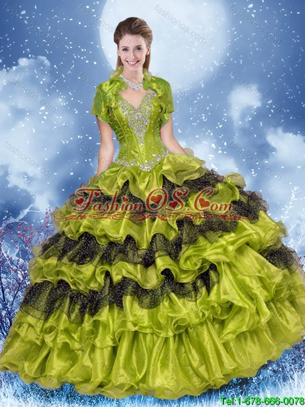 Wonderful Puffy Sweetheart 2016 Sweet 16 Gowns with Beading