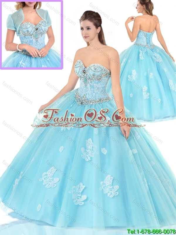 Unique Appliques Sweetheart Quinceanera Dresses with Beading
