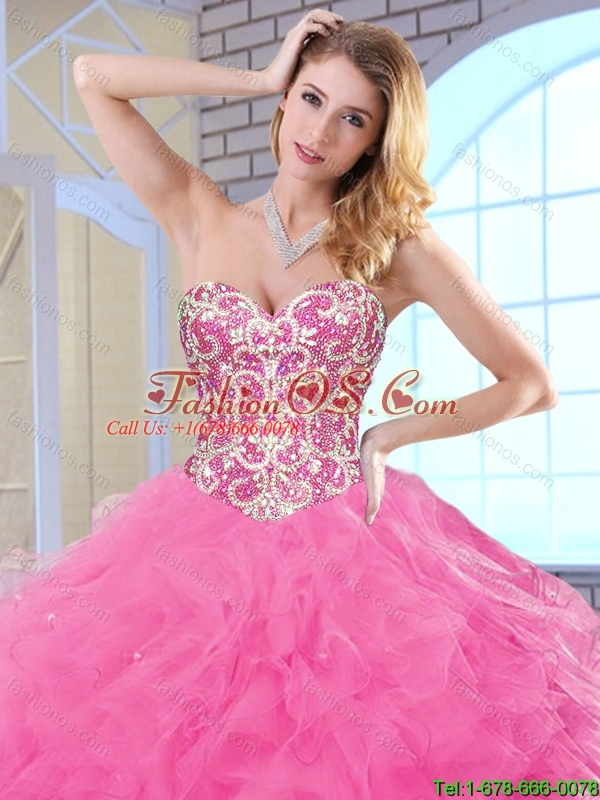 Classical Floor Length Quinceanera Dresses with Beading for 2015 Fall