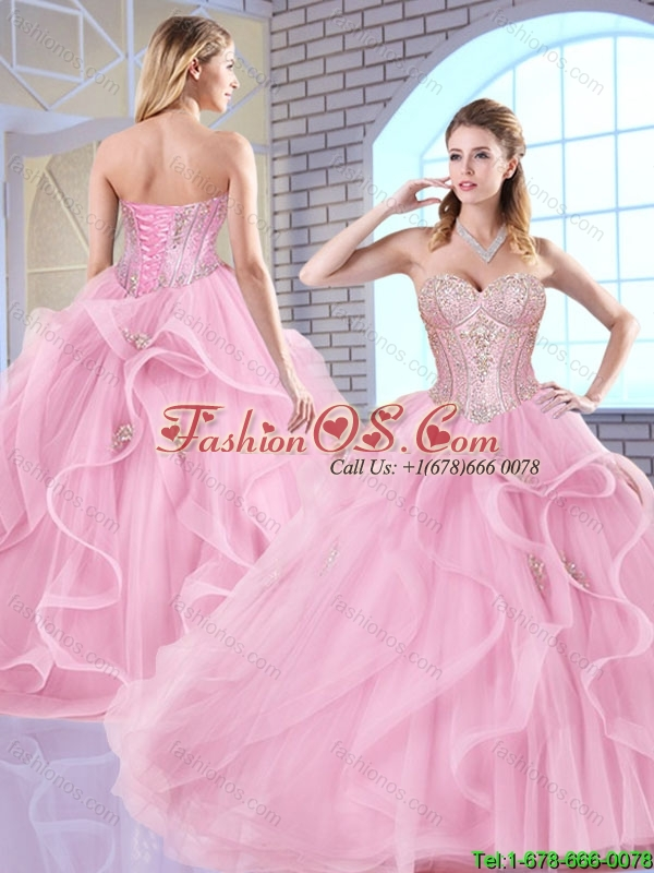 Elegant Sweetheart Lace Up Quinceanera Dresses with Beading