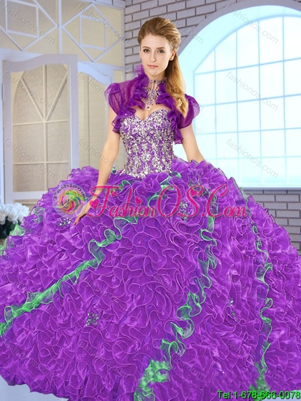 Fall Beautiful Multi Color Quinceanera Dresses with Sweetheart