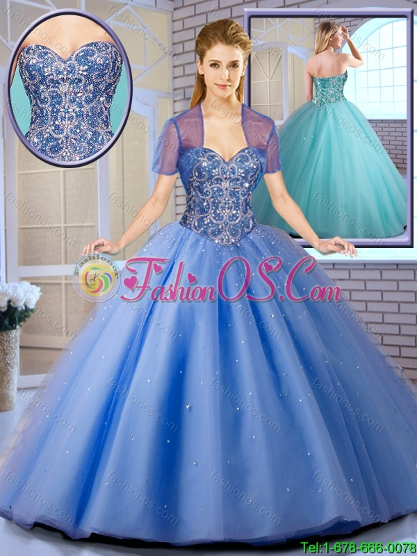 New Arrival Perfect Beading Ball Gown Sweet 16 Dresses with Lace Up
