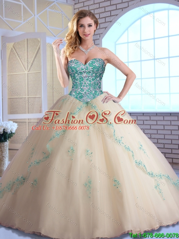 2016 Fashionable Sweetheart Quinceanera Dresses with Beading