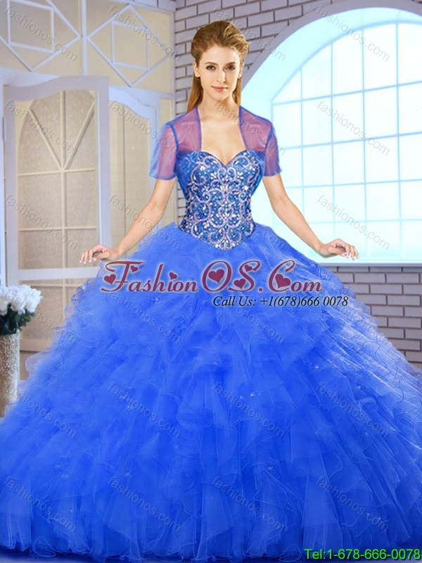 Elegant Ball Gown Sweetheart Quinceanera Dresses with Beading