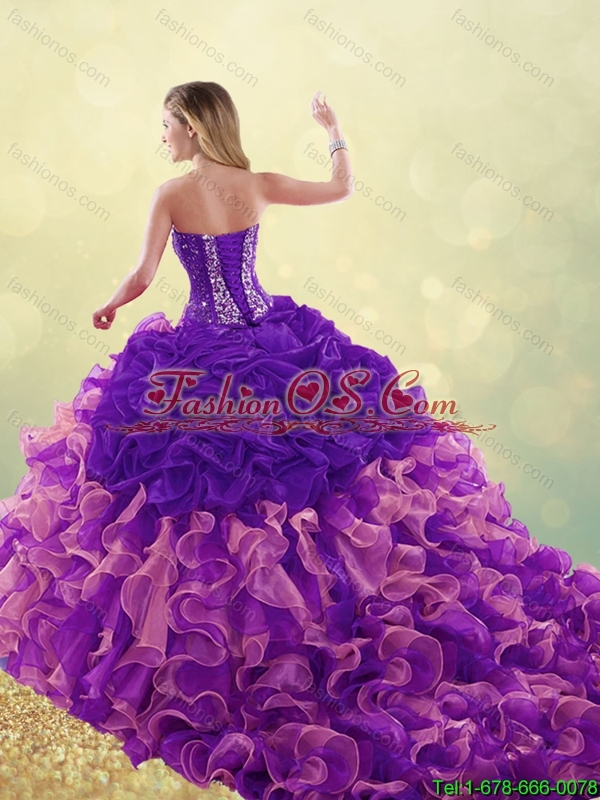Elegant Beading and Ruffles Detachable Quinceanera Dresses with Sweetheart