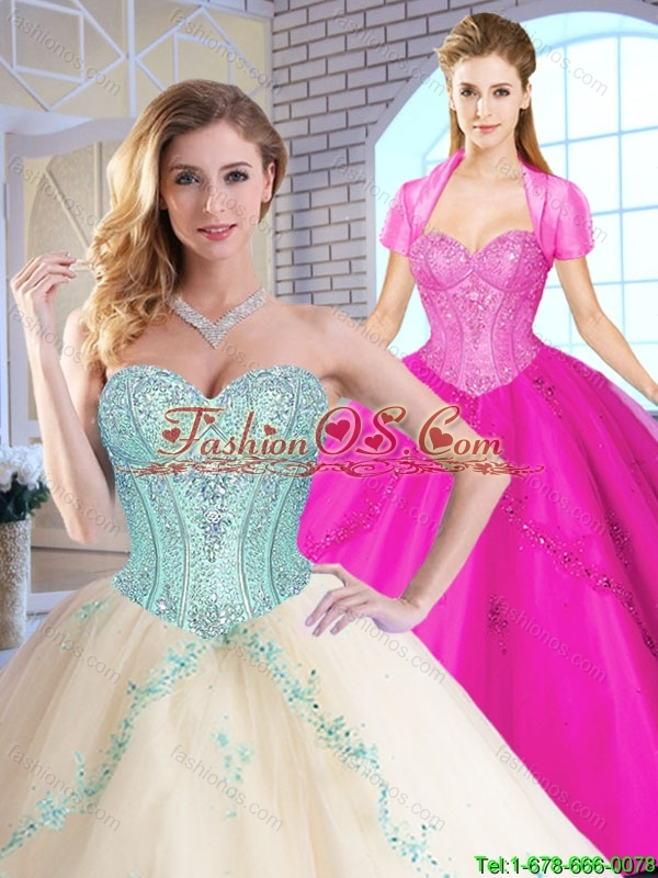 Elegant Sweetheart Quinceanera Dresses with Appliques and Sequins