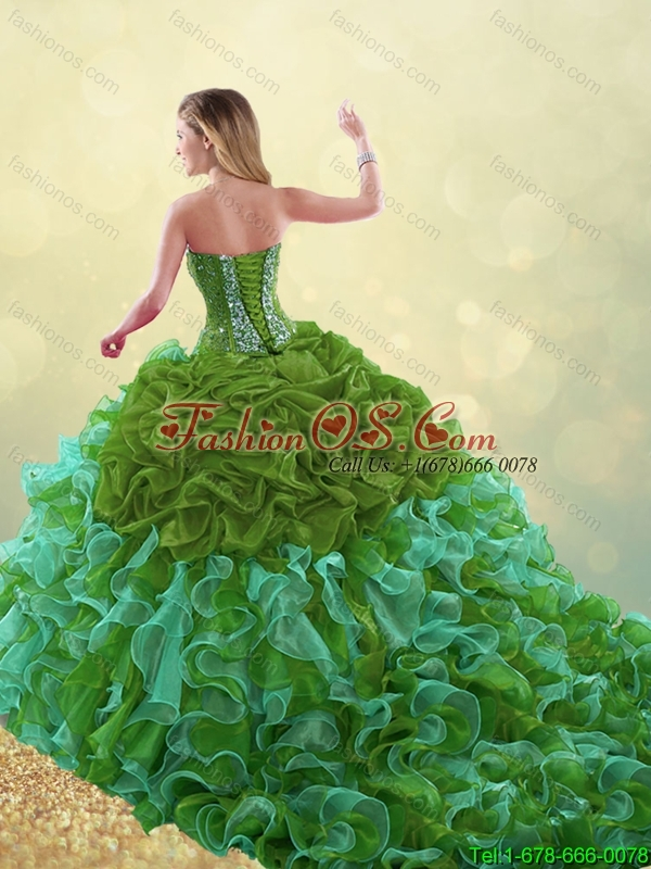 Exquisite Sweetheart Quinceanera Gowns with Beading and Ruffles