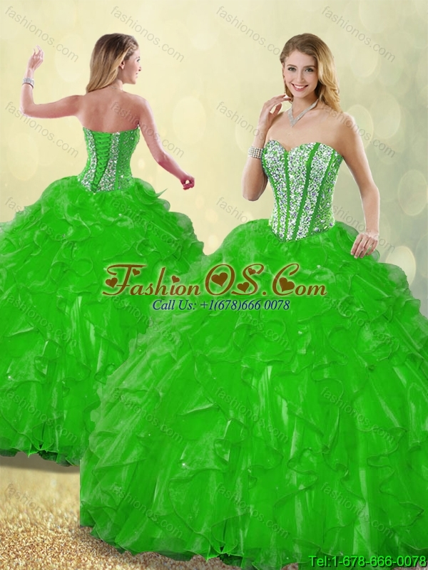 Fashionable 2016 Spring Beading Detachable Quinceanera Dresses with Sweetheart