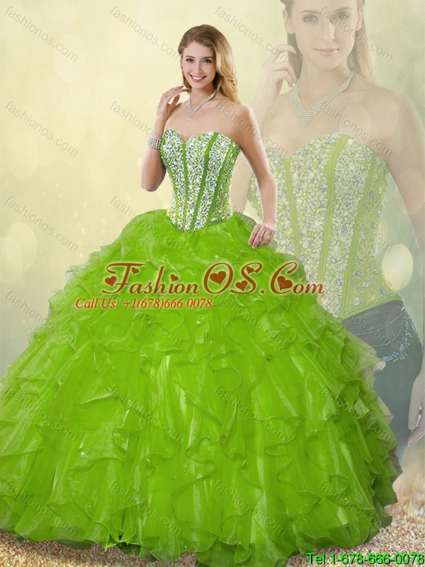 Gorgeous Sweetheart Quinceanera Dresses Beading and Ruffles