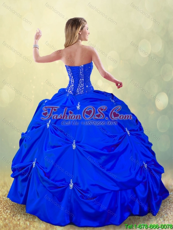 Luxurious Floor Length Quinceanera Dresses with Pick Ups