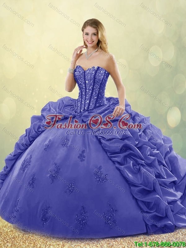 New Arrivals 2016 Sweetheart Quinceanera Gowns with Brush Train
