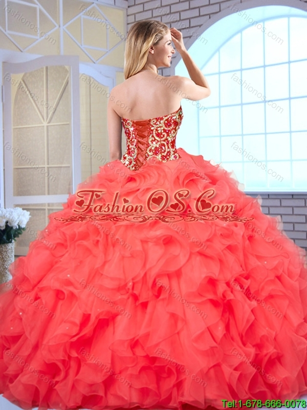 New Arrivals Ball Gown Sweet 16 Dresses with Beading and Ruffles