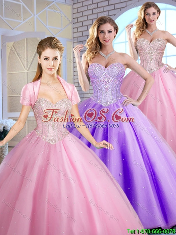 Perfect Sweetheart Quinceanera Dresses Beading and Sequins