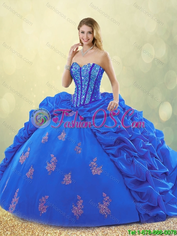 Spring New Style Sweetheart Quinceanera Gowns with Beading and Appliques