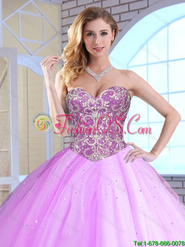 Winter Perfect Ball Gown Sweet 16 Dresses with Beading for 2016