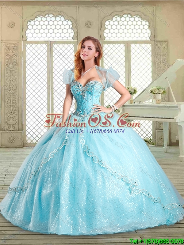 2016 Perfect Sweetheart Beading White Quinceanera Gowns