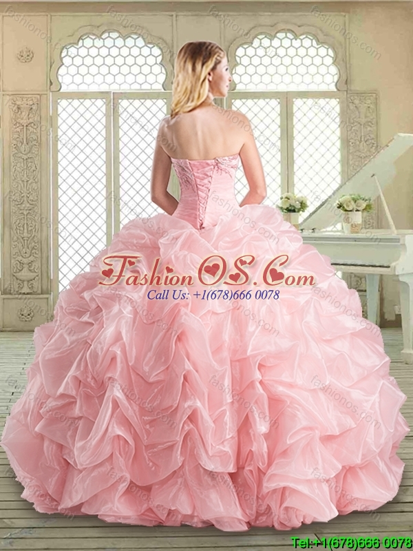 2016 Spring Pretty Floor Length Sweet 16 Dresses with Appliques and Pick Ups