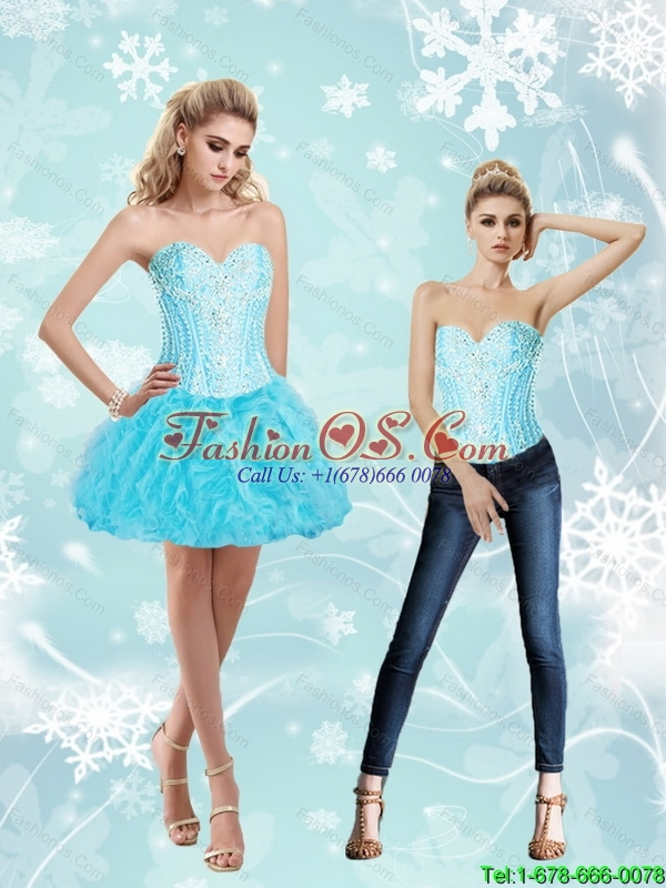 Classical Sweetheart Ball Gown and Beaded Detachable Prom Dress for 2016