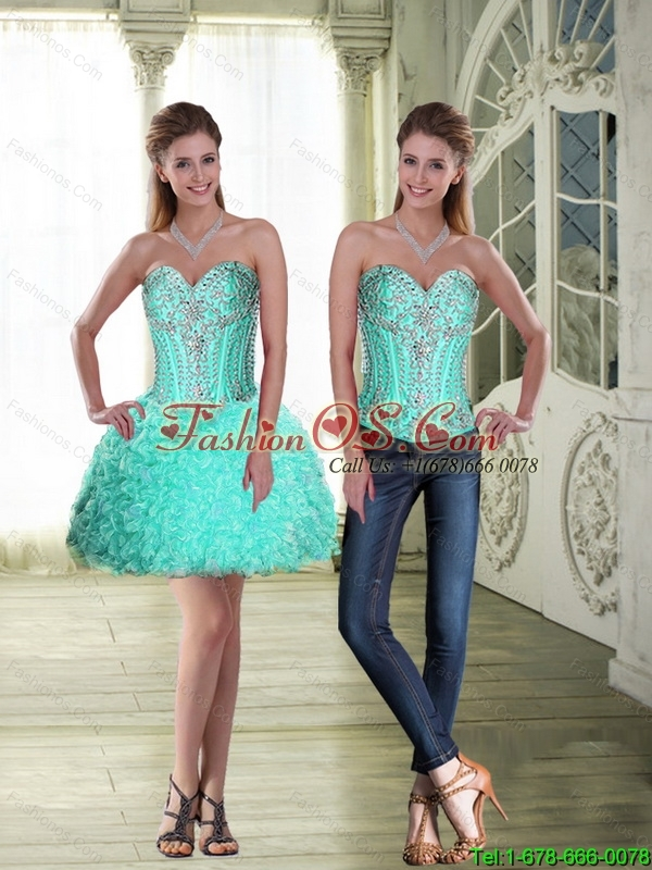 Simple Beaded Sweetheart Detachable Prom Dresses with Mini Length
