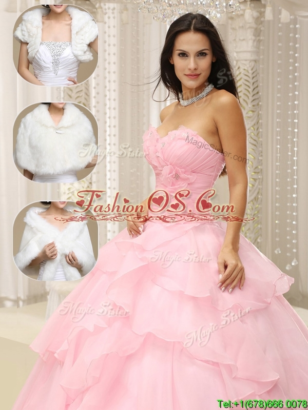 Simple 2016 Sweetheart Ruffles Quinceanera Dresses in Baby Pink