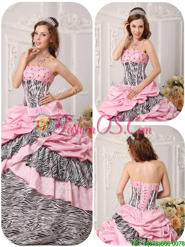 Classical Ball Gown Multi Color Quinceanera Gowns with Beading
