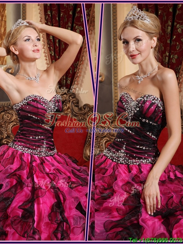 Exclusive Sweetheart Quinceanera Gowns with Beading and Ruffles