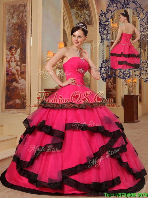 New Arrival Ball Gown Strapless Beading Quinceanera Dresses