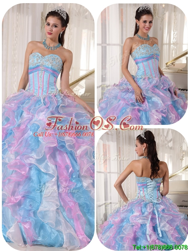Perfect Sweetheart Ruffles and Appliques Quinceanera Dresses