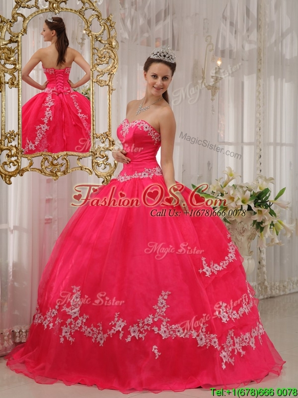 Perfect  Ball Gown Sweetheart Appliques Quinceanera Dresses