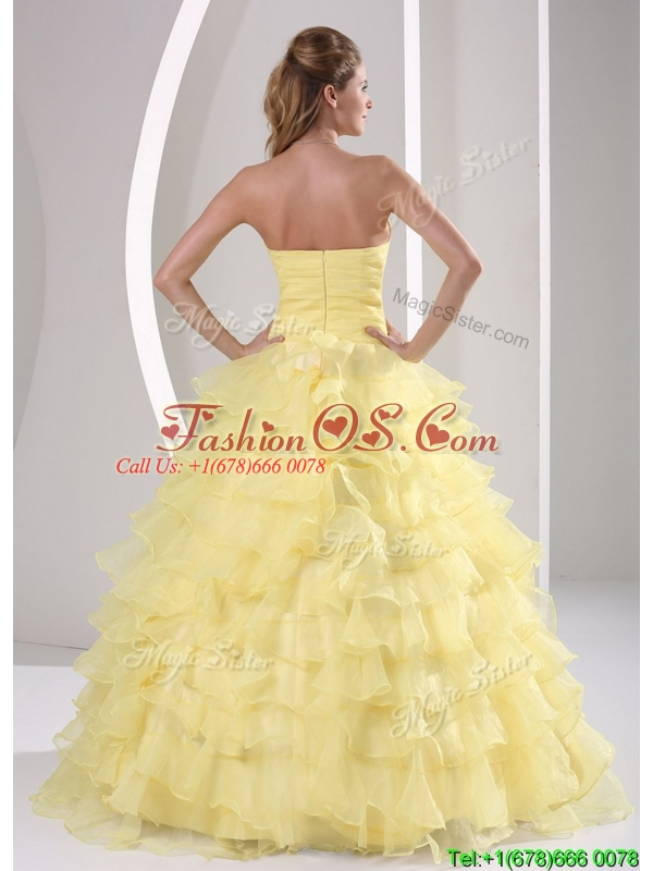 Pretty Ball Gown Quinceaners Dresses with Appliques