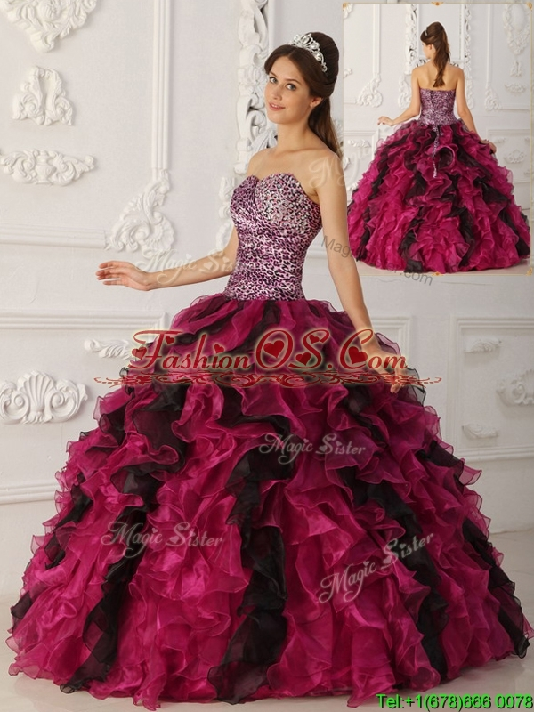 Pretty Multi Color Ball Gown Floor Length Quinceanera Dresses