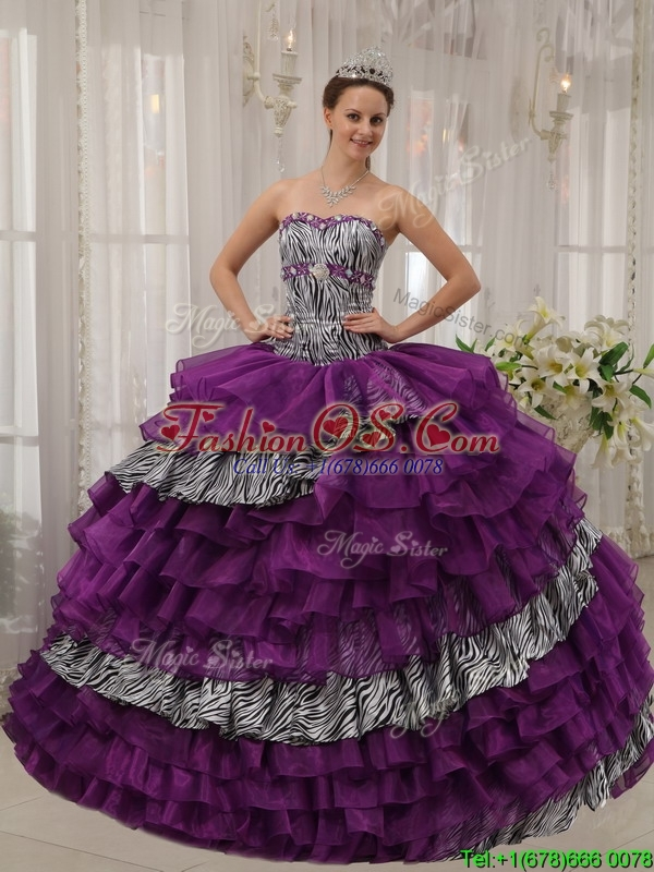 Pretty New Sweetheart Beading Quinceanera Dresses in Purple