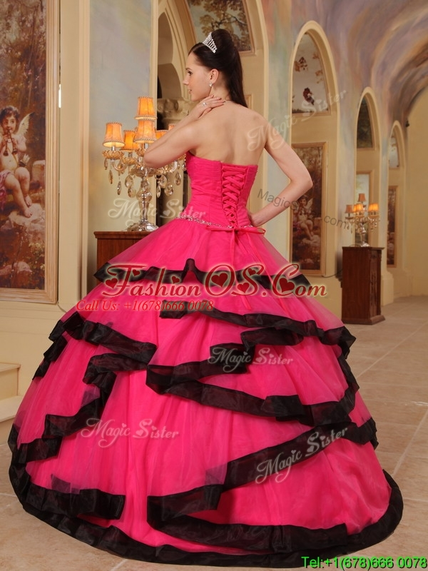 PrettyAppliques Quinceanera Dresses in Red and Black 230.99